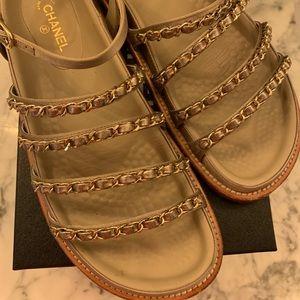 Chanel sandals 38.5